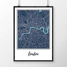 Obrazy - LONDÝN, klasický, tmavomodrý - 8074435_
