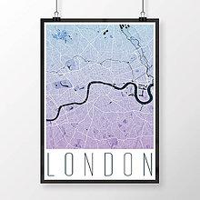 Obrazy - LONDÝN, moderný, modro-fialový - 8074467_