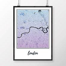Obrazy - LONDÝN, klasický, modro-fialový - 8074473_