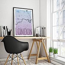 Obrazy - LONDÝN, elegantný, modro-fialový - 8074494_