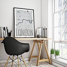 Obrazy - LONDÝN, elegantný, svetlomodrý - 8074517_