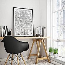 Obrazy - LONDÝN, elegantný, biely - 8074532_