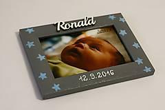 Detské doplnky - Fotorámik hviezdy - 8076326_