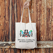 Nákupné tašky - Holúbky (bavlnená taška) - 8074035_