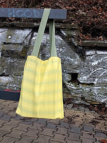 Nákupné tašky - žluto-zelená taška - 8075862_