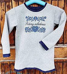 Detské oblečenie - Mikina modrotlač - švarny mládenec - 8075845_