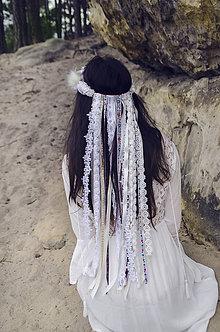 Ozdoby do vlasov - Bohémsky vlasový venček - 8075728_