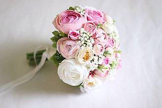 Kytice pre nevestu - Romantická svadobná kytica2 - 8076693_