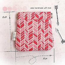 Peňaženky - Peňaženka mincovka Ružový cik-cak - 8076748_