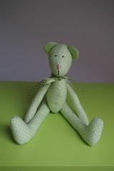 Hračky - ZĽAVA ! zelený macko  ♥ ♥ ♥ - 8073593_