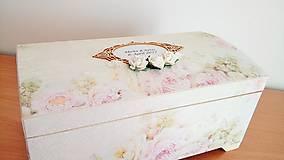 Krabičky - svadobná truhlica na dary - 8077284_