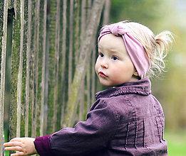 Detské doplnky - Čelenka se sukem starorůžová - 8073914_
