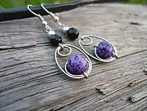 - Náušnice Purple Elegant - 8081330_