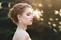 Náušnice - svadobné náušnice KÚSOK ŠŤASTIA (Crystal - Ag 925) - 8080467_