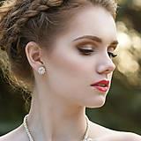 Náušnice - svadobné náušnice MALÁ VLOČKA  (Variant A - Ag 925) - 8080939_