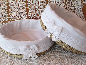 Košíky - Košíky - Okrúhle na svadobné koláčiky - 8078931_