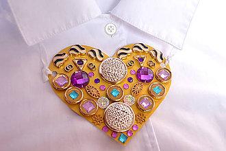 Náhrdelníky - náhrdelník v tvare srdca - 8080663_