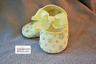 Topánočky - capačky žlté - 8079299_