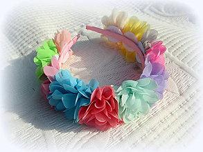 Ozdoby do vlasov - Dekoratívna čelenka PARTA, flower MIX - 8081231_
