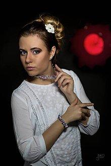Sady šperkov - Perličkový setík - Violet & PinkBlue - 8081346_