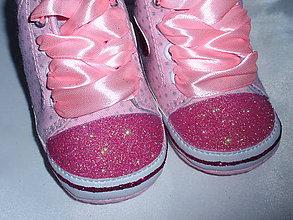 Topánočky - Capačky zdobené glitrami - 8080811_