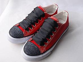 Topánočky - Tenisky zdobené glitrami - 8080879_