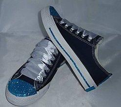 Topánočky - Tenisky zdobené glitrami - 8080984_