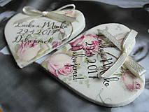 svadobné magnetky s ružami vintage