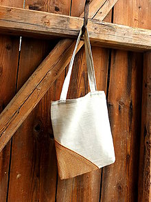 Nákupné tašky - chalupářská taška se sítí - 8079848_