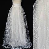 - Svadobná sukňa v maslovej farbe s hačkovaným pásom ZLAVA - 8079877_