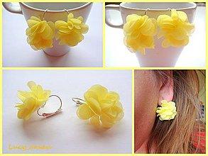 Náušnice - Náušničky kvetinky-žlté :) - 8077994_