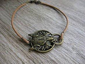 Šperky - Pánsky kožený náramok (č.869) - 8080577_