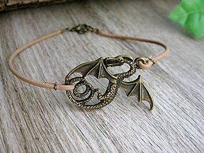 Šperky - Pánsky kožený náramok (Drak č.871) - 8080621_
