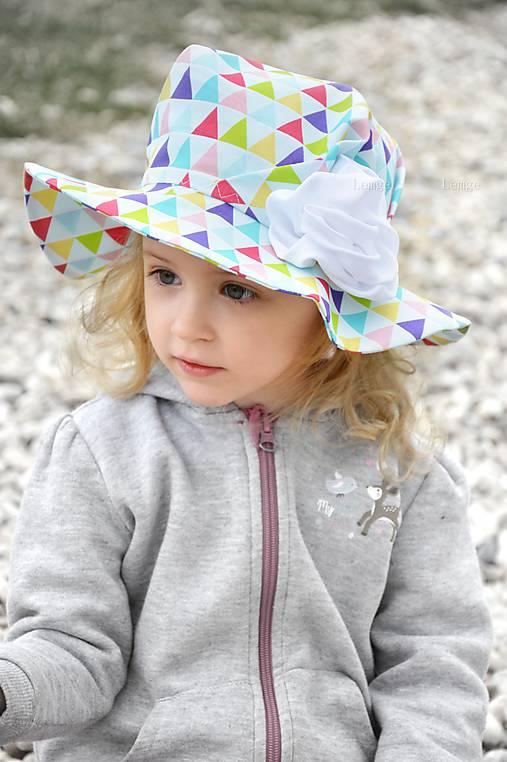 Letný klobúk Triangle rainbow   lemge - SAShE.sk - Handmade Detské ... c5092d5fcfe
