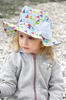 Detské čiapky - Letný klobúk Triangle rainbow - 8081621_