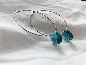 Náušnice - Swarovski xilion oval+ chirurgická oceľ - 8080411_