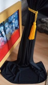 Úžitkový textil - dark curtain/záves/obrus/ - 8079185_