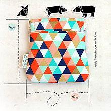 Peňaženky - Peňaženka mincovka Najveselšie trojuholníky - 8078563_