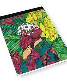 Papiernictvo - Skicár B5 Banánová záhrada - 8079172_