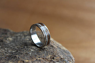 Prstene - Prsten Luxury Silver bílý mramor - 8081548  0e4aca96edf
