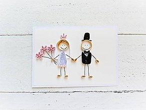 Papiernictvo - svadobná pohľadnica - na želanie - 8079523_
