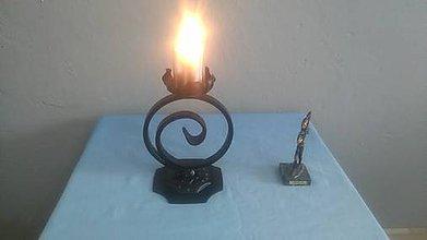 Svietidlá a sviečky - kovový svietnik - 8081937_