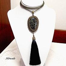 Náhrdelníky - Korálkový náhrdelník 589-0044 - 8083762_