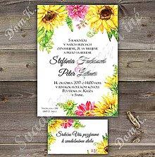 Papiernictvo - Svadobné oznámenie Watercolour flower 6 - 8082417_