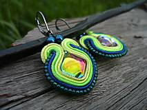 - Soutache náušnice Magic Ocean Lagoon - 8084348_