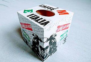 """Krabičky - Box na vreckovky """"Caffé Italia"""" - 8084192_"""