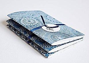 """Papiernictvo - 3 zápisníky modré """"Botanical garden"""" - 8083888_"""