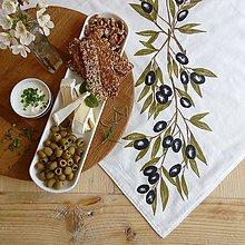 Úžitkový textil - Obrus 90x90cm olivy - 8081861_