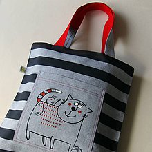 Nákupné tašky - MICÍÍÍ - taška kanafaska - 8084703_
