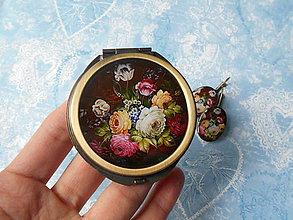Sady šperkov - Ruský folk #9 (zrkadielko + náušničky) - 8083505_